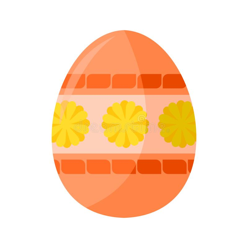 Salmon Colored Easter Egg Illustration femenino libre illustration