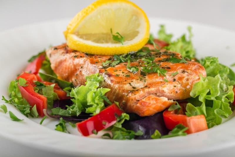 Salmon Dinner stock image