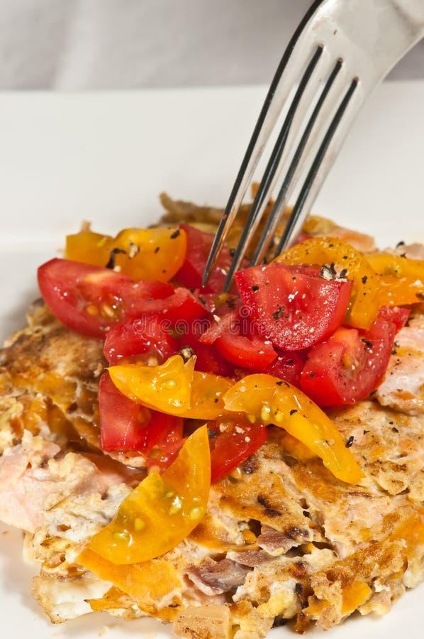 Download Salmon. Egg And Sweet Potato Pancake- Paleo Diet Stock Image - Image: 83714081