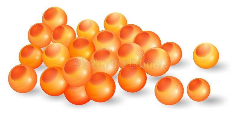 Salmon Eggs ilustração royalty free