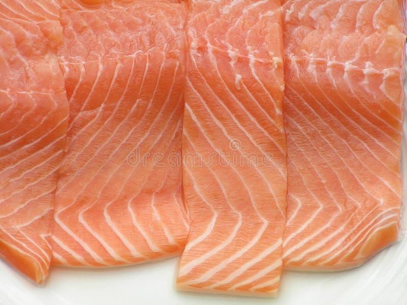 Salmon filet stock photo