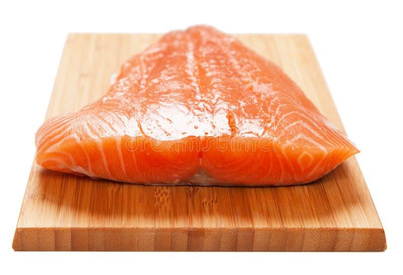 Salmon filet. Isolated on white background royalty free stock photo