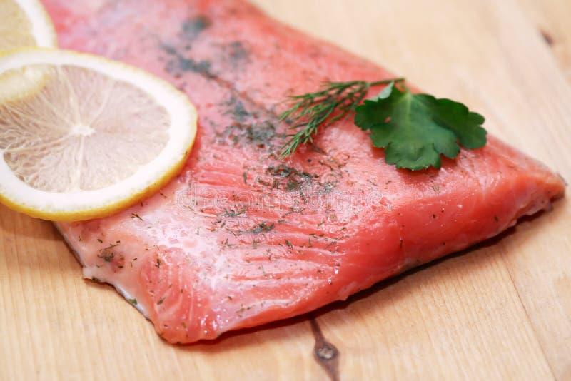 Salmon Fillet stockfotos