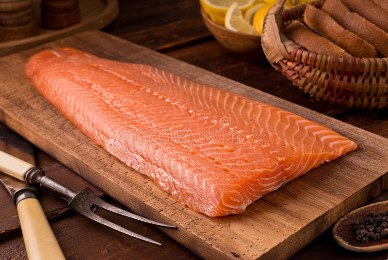 Salmon Fillet arkivbild