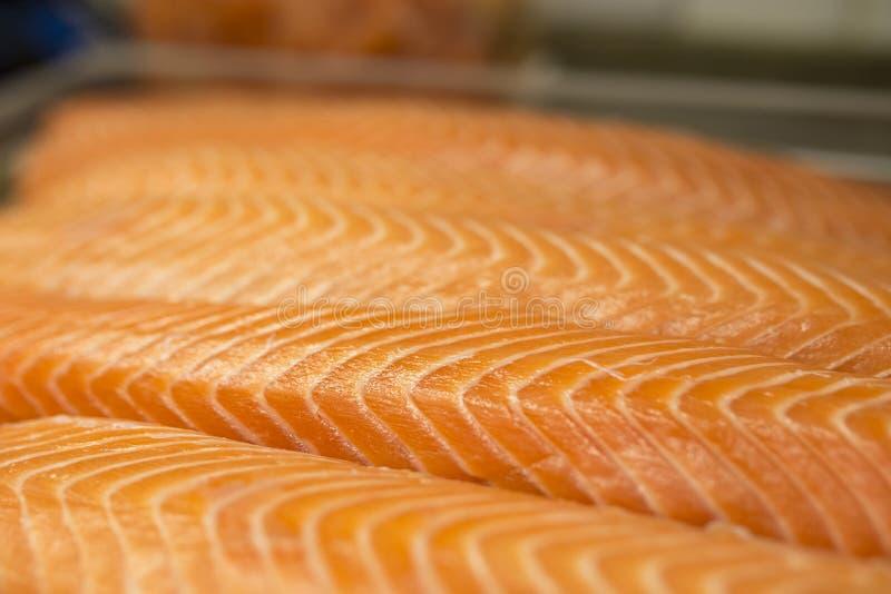 Salmon fillet closeup stock photo