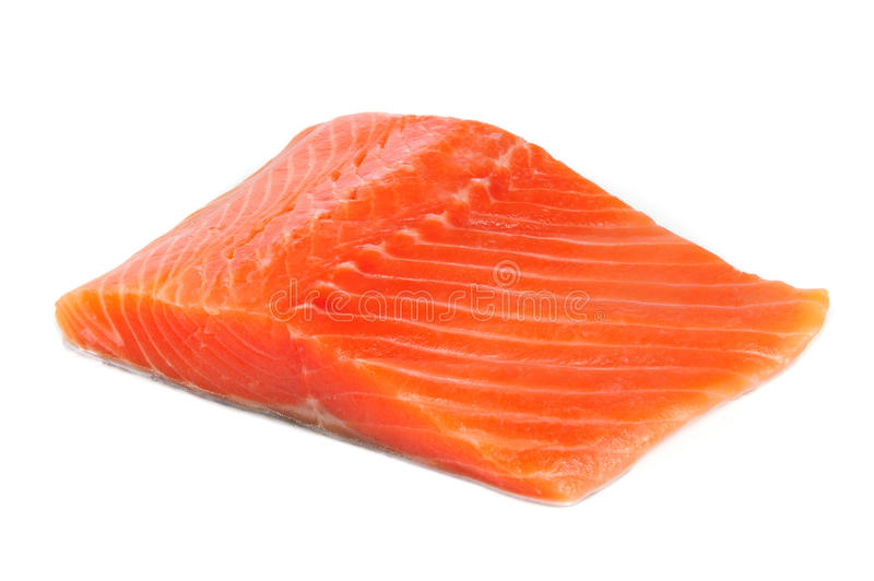 Salmon Fillet Isolated sur le fond blanc photo libre de droits