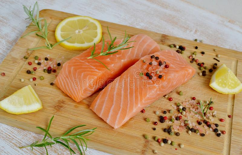 Salmon Fish Cooking images stock
