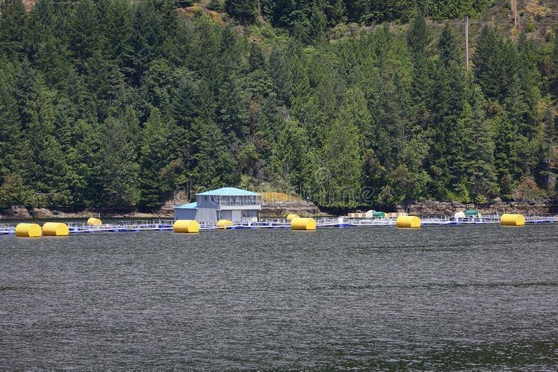 Salmon Fish Farm, British Columbia Coast