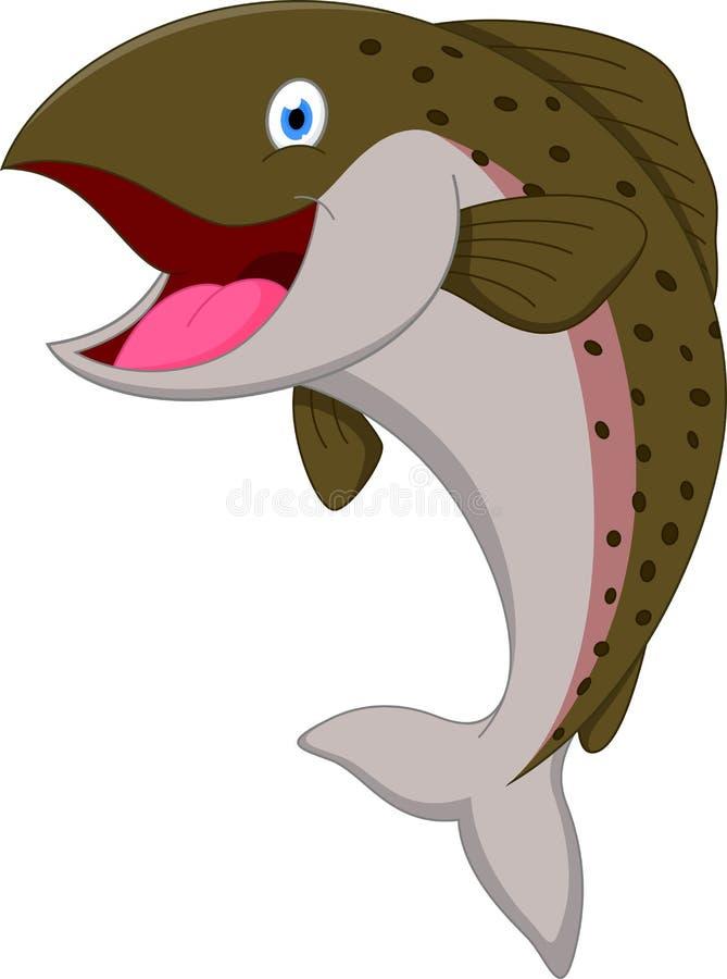 Salmon Fish-Karikatur stockbilder