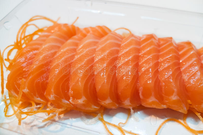 Salmon. Fresh salmon fillet Colorful appetizing royalty free stock photography