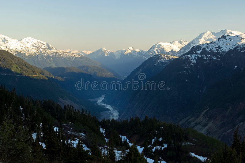 Salmon Glacier, Alaska royalty free stock photo
