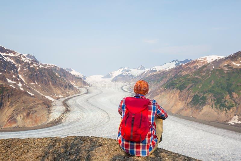 Salmon Glacier royaltyfri fotografi