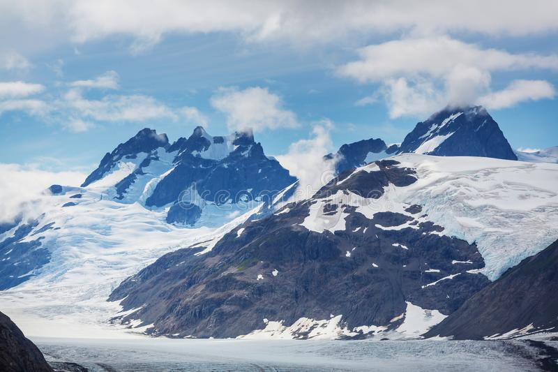 Salmon glacier. In Stewart, Canada royalty free stock images