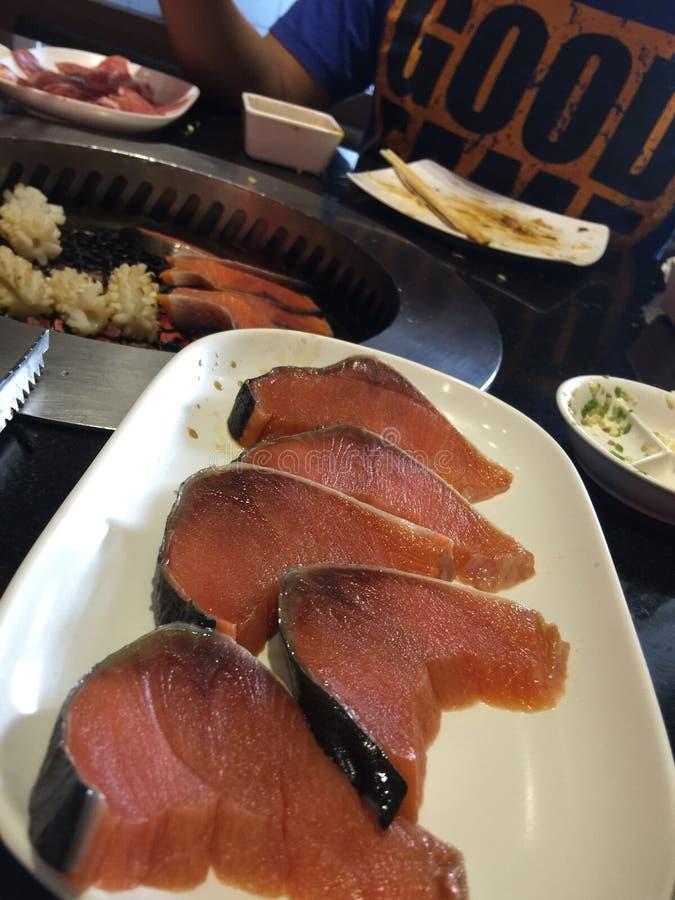 Salmon Grill photo stock