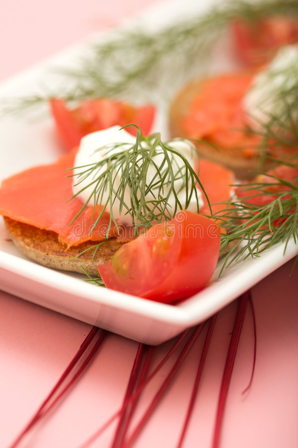 Download Salmon Hor d'oeuvre stock image. Image of dill, smoked - 8686431