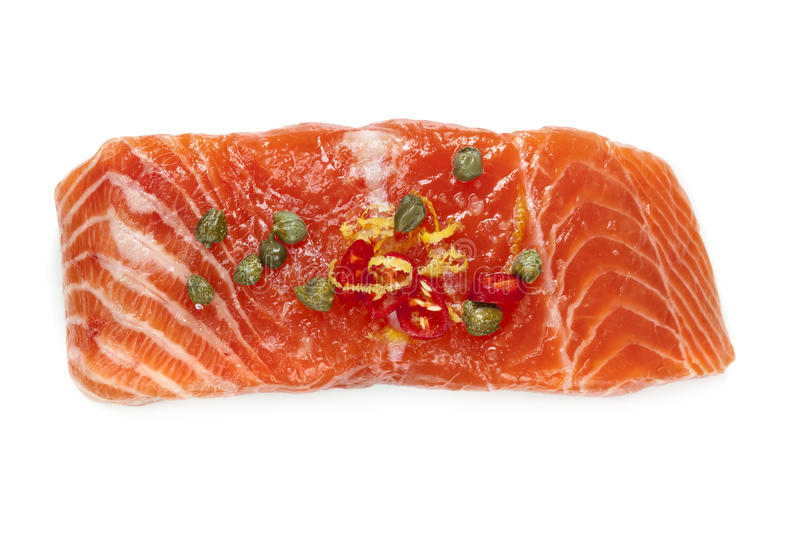 Salmon Isolated cru images libres de droits