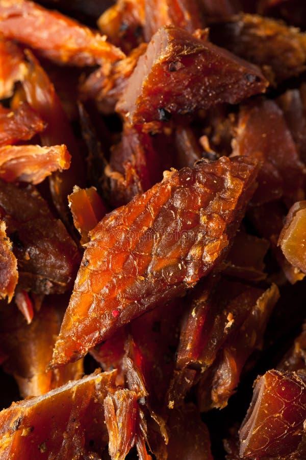 Salmon Jerky affumicato secco immagini stock