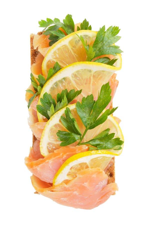 Download Salmon with lemon stock photo. Image of freshness, prepared - 21789788