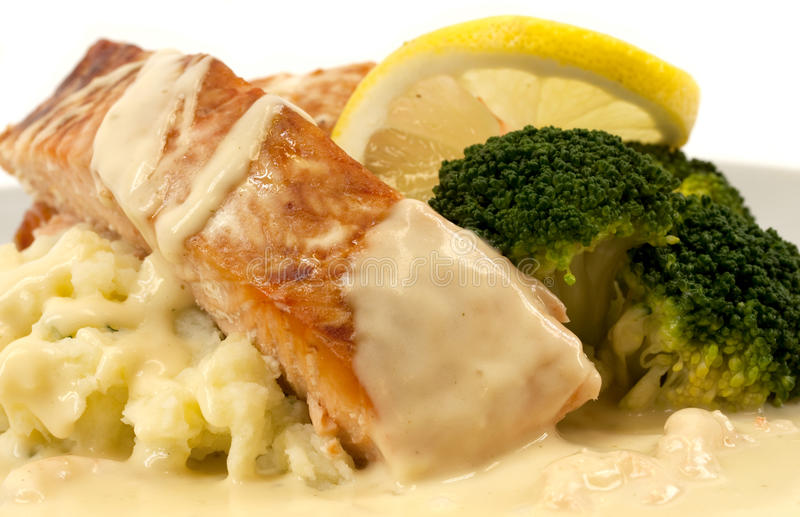 Download Salmon With Mashed Potatoes Stock Image - Image: 22632881