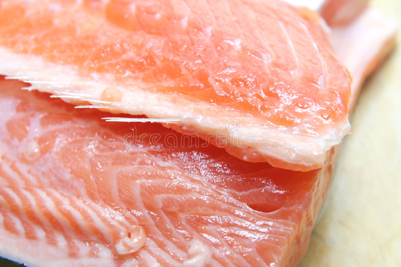 Salmon meat royalty free stock photography