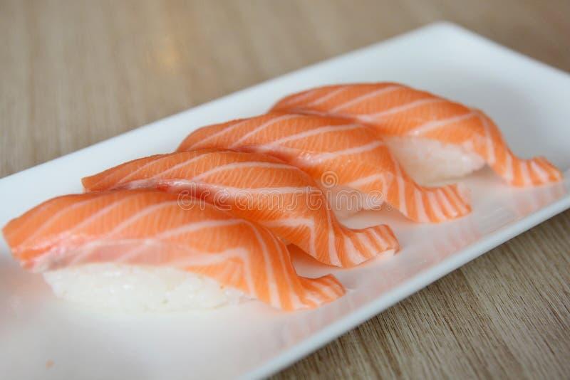 Salmon nigiri стоковые фото