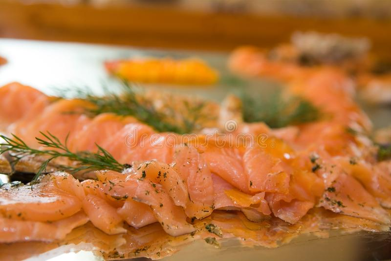 Salmon - Party Platter royalty free stock photo