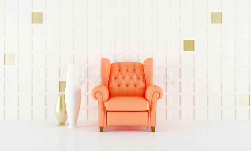 Salmon pink seat royalty free illustration