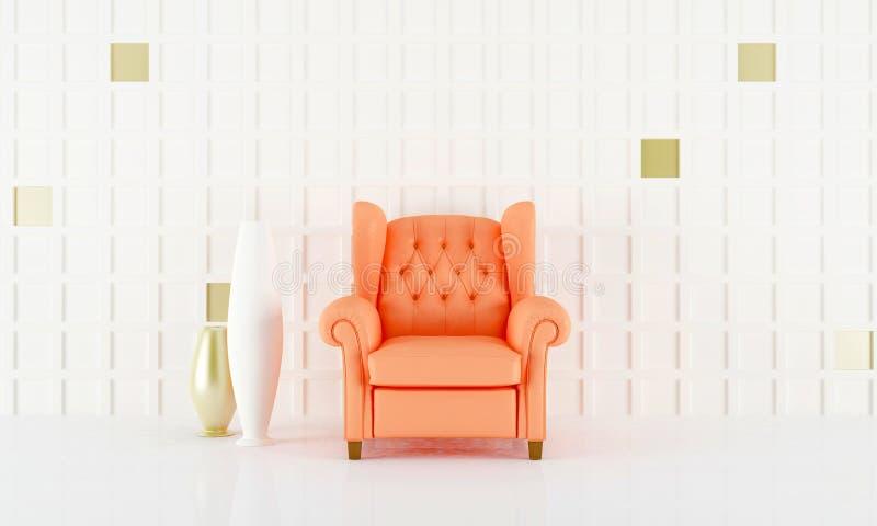Salmon pink seat royalty free illustration