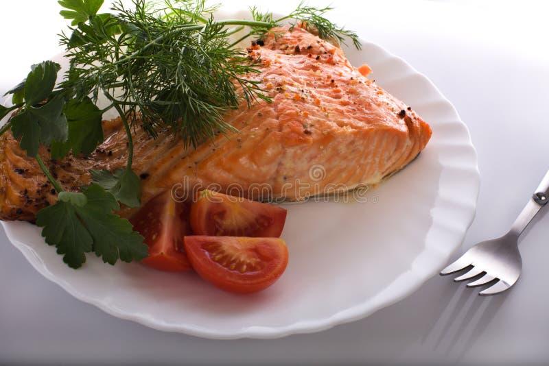 Salmon prepared royalty free stock photo