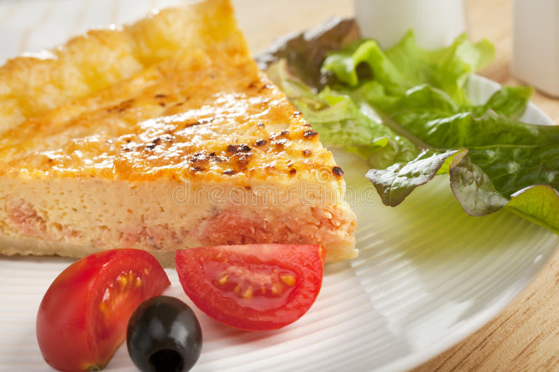 Download Salmon Quiche And Salad Royalty Free Stock Photo - Image: 25329135