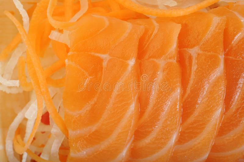 Salmon raw sashimi. On background royalty free stock images