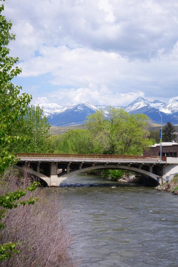 Salmon River en los salmones, Idaho imagen de archivo libre de regalías
