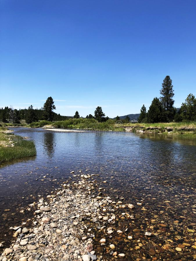 Salmon River na área de recreação nacional do Sawtooth, Idaho fotografia de stock royalty free