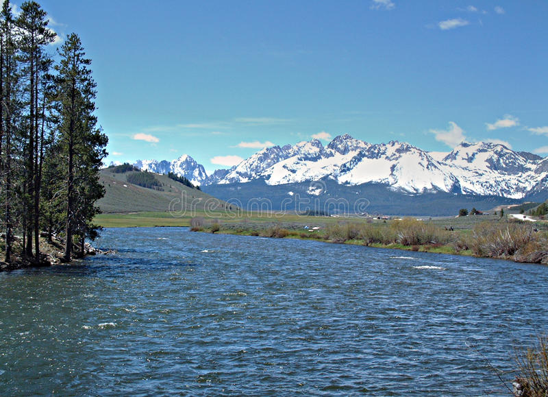 Salmon River perto de Stanley, Idaho 4 imagens de stock