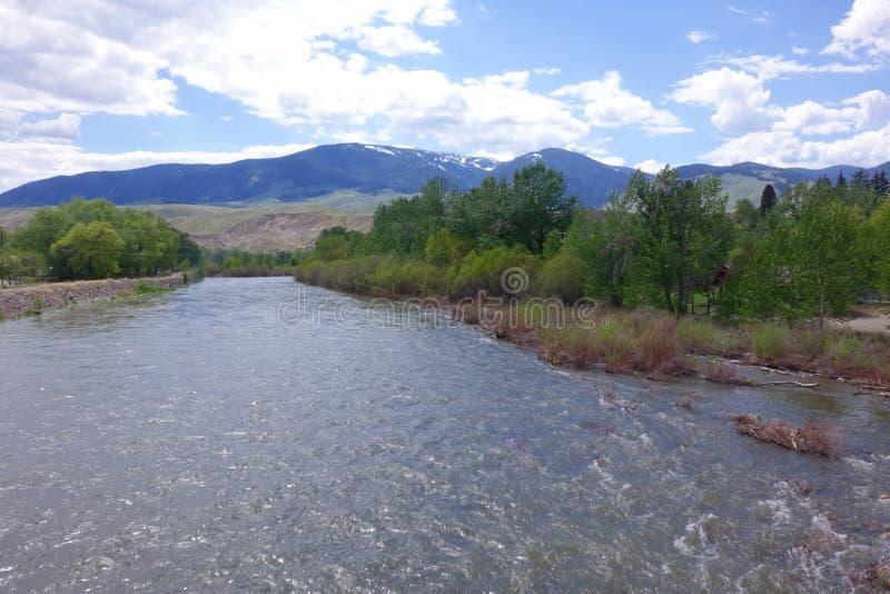 Salmon River - salmón, Idaho imagen de archivo