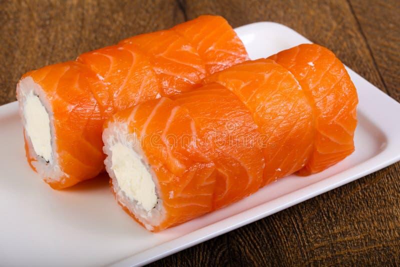 Salmon Roll arkivbild