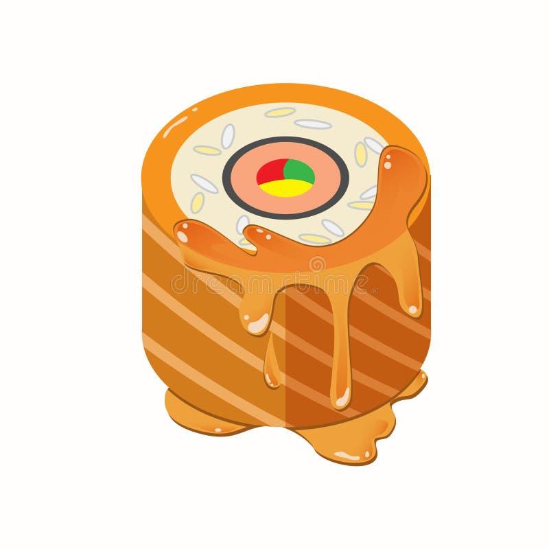 Salmon Roll Cake stock photography