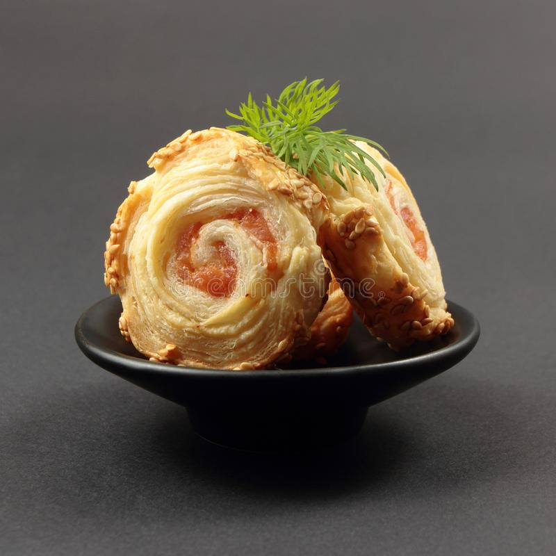 Download Salmon roulade stock image. Image of pastry, puff, cake - 30179365