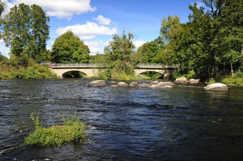 Salmon's river old bridge stock photo