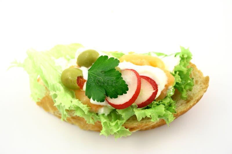 Salmon's sandwich royalty free stock photos