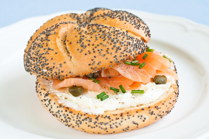 Salmon Sandwich lizenzfreies stockbild