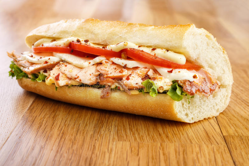 Salmon Sandwich stockbild