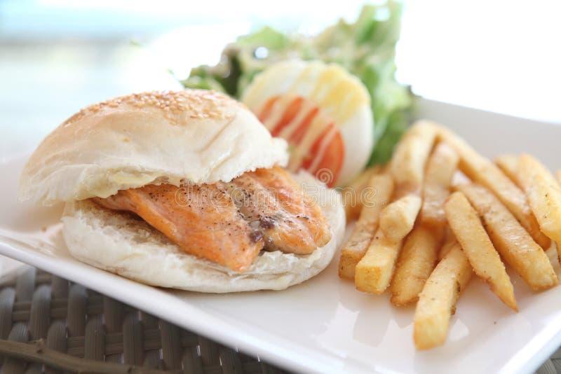 Salmon Sandwich royalty-vrije stock foto's