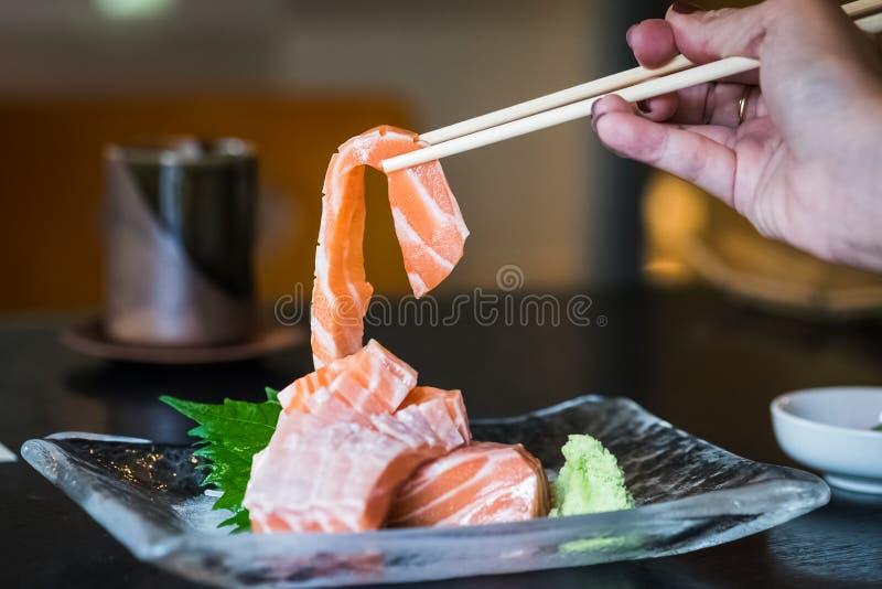 Salmon Sashimi royalty-vrije stock afbeeldingen