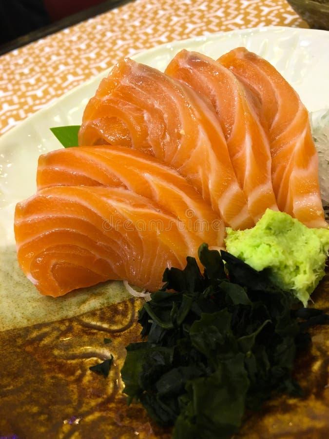 Salmon Sashimi foto de archivo libre de regalías