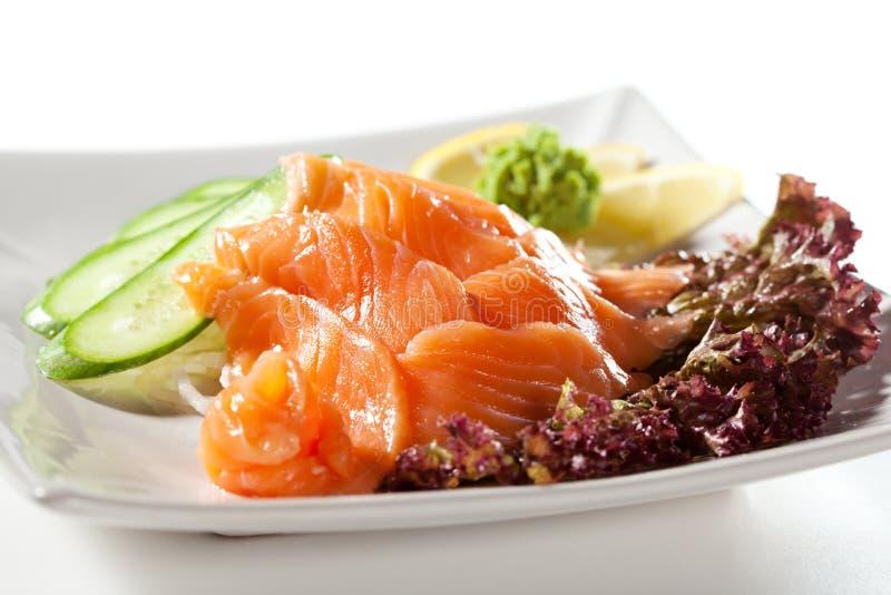 Salmon Sashimi arkivbilder