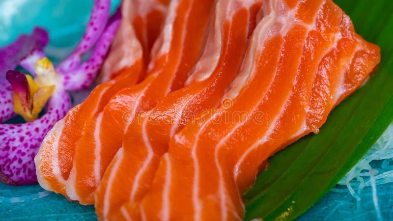 Salmon Sashimi affettato fresco delizioso immagini stock