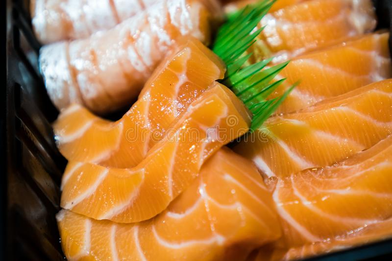Salmon sashimi. Food japan salmon sashimi close up stock images