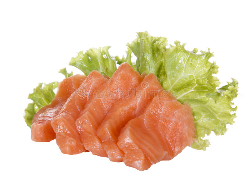 Salmon sashimi isolated royalty free stock image