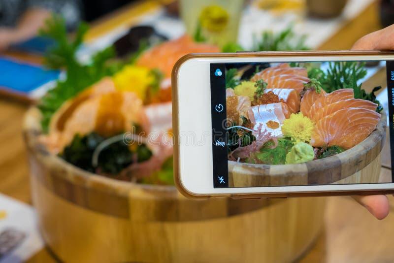 Salmon sashimi set royalty free stock photo